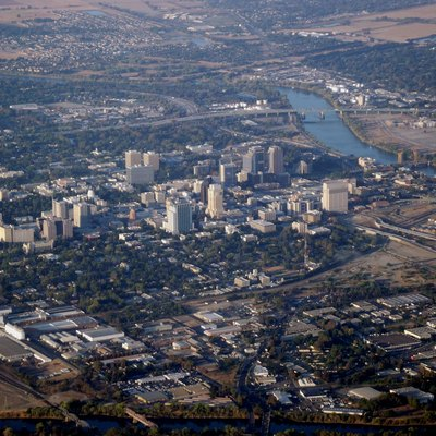 Sacramento from take off at Sacramento International Airport