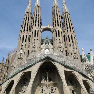 The Passion façade of the Sagrada Familia, Barcelona, Spain
