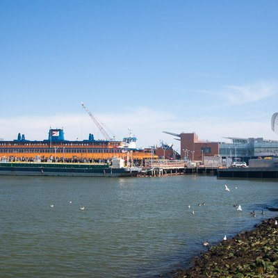 The Saint George ferry terminal that serves the Staten Island Ferry
