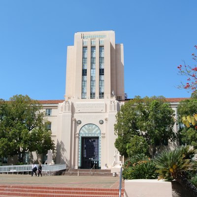 San Diego County Administration Building, 1600 N Harbor Drive, San Diego. The city has had a separate City Hall since 1964.