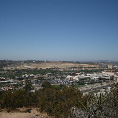 Central Mission Valley viewed from University Heights park in San Diego.