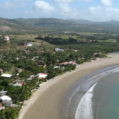 Self-taken picture of the beach at san juan del sur, nicaragua