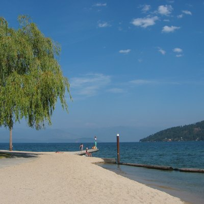 City beach on Lake Pend Oreille in Sandpoint, Idaho