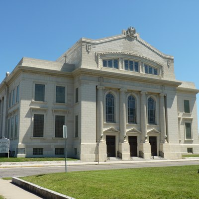 Image of the Scottish Rite Cathedral in Downtown Joplin, MO