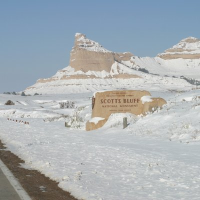 Scotts Bluff National Monument, Winter Of 2002.