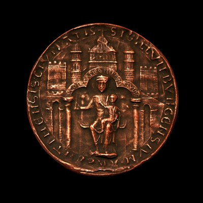 Moulding of the seal of Strasbourg in 1201, made by Charles Haudot. On display at the Musée historique de Strasbourg.