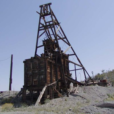 Photo of old minehead at Searchlight, Nevada