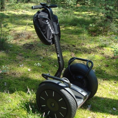 Picture of green Segway