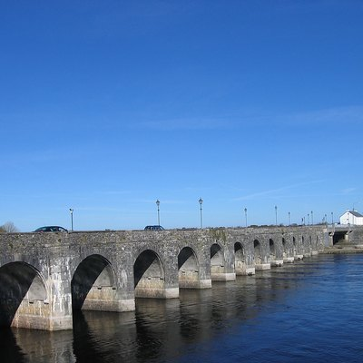 Bridge over the River Shannon at Shannonbridge, Ireland