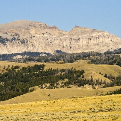 Sheep Mountain, near Jackson, Wyoming. Also known as the Sleeping Indian.