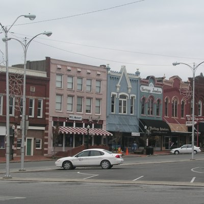 Town square of Shelbyville, Tennessee