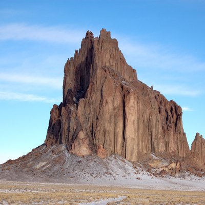 A photograph of Shiprock, Navajo Nation, New Mexico, USA.