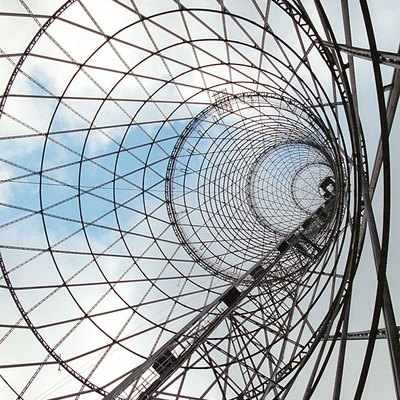 The Hyperboloid lattice shell of Shukhov Tower in Moscow, Russia