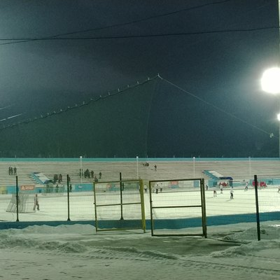 Bandy At Sibselmash Stadium In Novosibirsk, Siberia'S Biggest City And The Third Biggest One In Russia