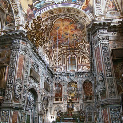 Church of Santa Caterina, Palermo, Sicily, Italy. The sanctuary.