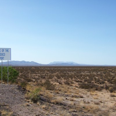 Sign near Upham, New Mexico, USA. Area now being developed as Spaceport America.