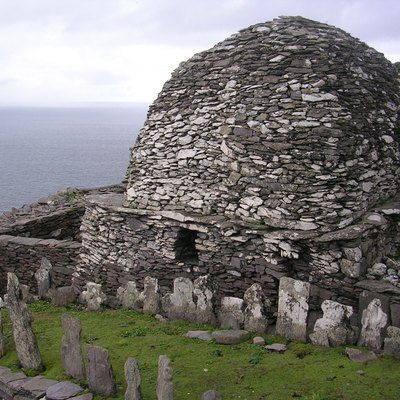 Skellig Michael - grave yard and large oratory