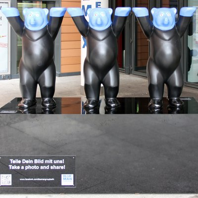 Blue Man Group-Buddy Bears, In Berlin-Mitte