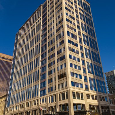 Gateway Tower East, also known as the Zions Bank Building, in Salt Lake City, Utah, USA.