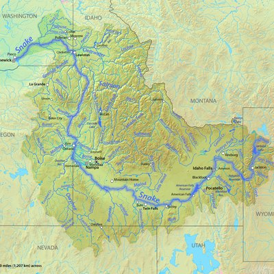 Map of the Snake River watershed in northwestern USA (improvement over Snake River map.jpg)