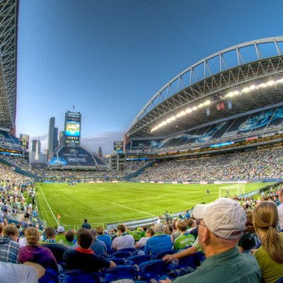 HDR image of inside Qwest Field from the Southwest corner during a MLS Seattle Sounders FC Match.