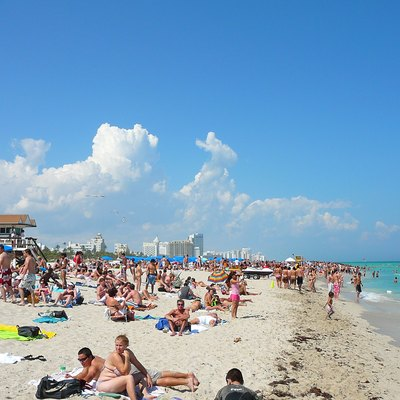 Digital photo taken by Marc Averette. A typical winter day on South Beach, Miami Beach, Florida