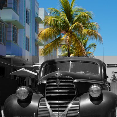 Classic Oldsmobile in South Beach Miami by D Ramey Logan