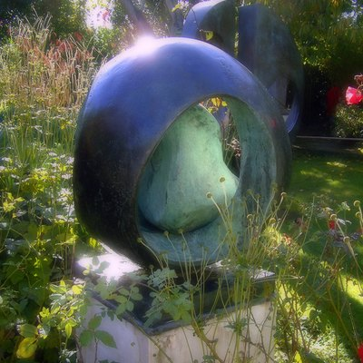 Barbara Hepworth: Sphere with Inner Form, at Trewyn Garden, St Ives.