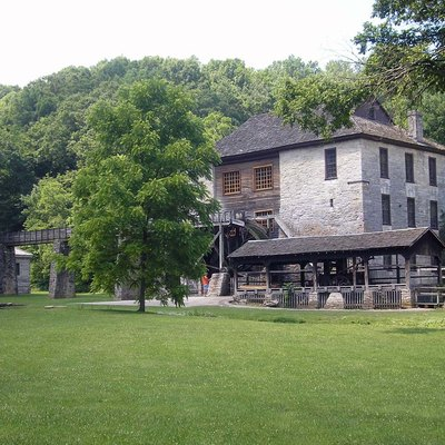 Grist Mill in Pioneer Village, Spring Mill State Park in Indiana