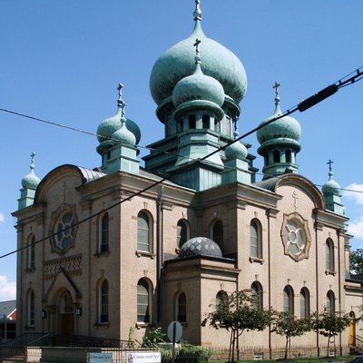 Saint Theodosius Orthodox Cathedral in Cleveland, Ohio's Tremont neighborhood