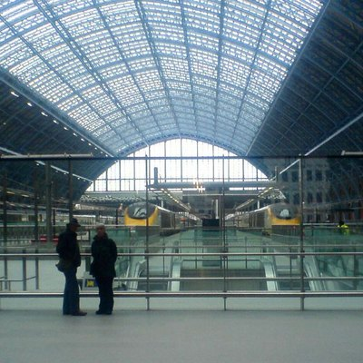 St Pancras Internation station's Eurostar platforms