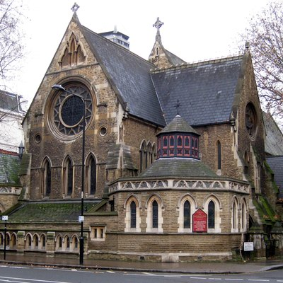 St Stephen's Church, South Kensington. Corner of Gloucester Road and Southwell Gardens (where the entrance is).