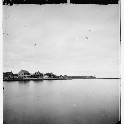 St. Augustine waterfront 1860's