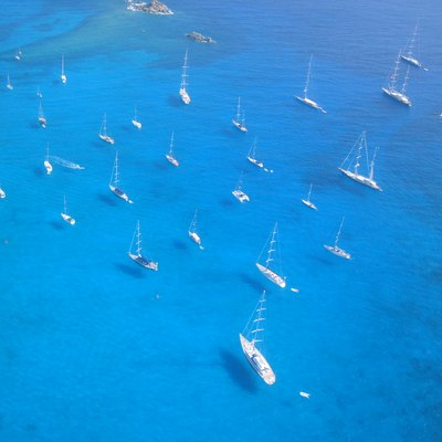 Sailboats and yachts, St. Barts