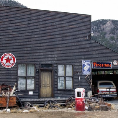 St. Elmo ghost town gasoline filling station, Colorado, Rocky Mountains