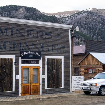 St. Elmo ghost town general store, Colorado, Rocky Mountains