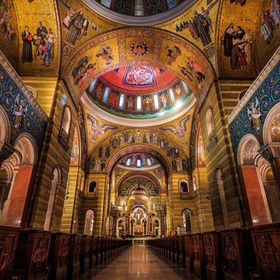 This is the main isle of the beautiful St. Louis Cathedral Basilica located in St. Louis, MO.