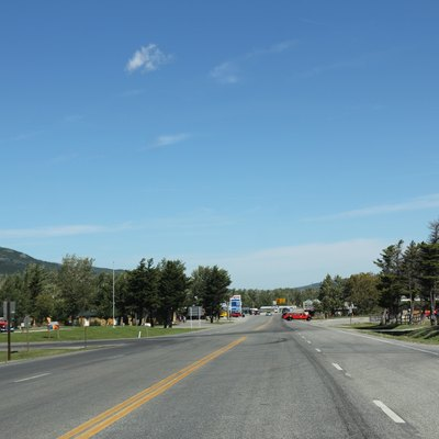 Looking north at w:St. Mary, Montana on U.S. Route 89.