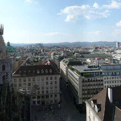 View from the north tower of St. Stephen's Cathedral, Vienna.
