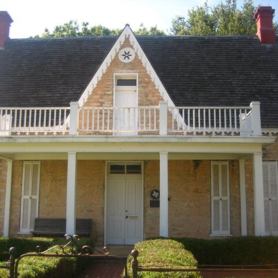 Oldest house in Stephenville, Texas, United States. Built in 1869 from native limestone, the house was designated a Recorded Texas Historic Landmark in 1967. The house is now part of the Stephenville Historical House Museum. I took photo in July 2008.