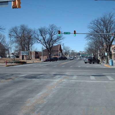 Main Street in Sterling, Colorado, USA