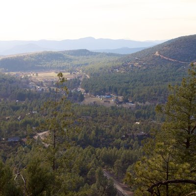 Viewed from the top of Strawberry Mountain, in Gila County, Arizona.