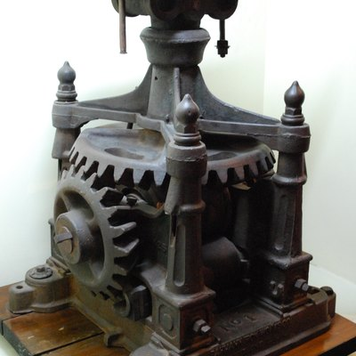 19th Century Sugar Cane Mill From Tapachula On Display At The Regional Museum In Tuxtla Gutierrez, Chiapas, Mexico