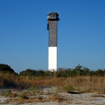 Lighthouse on Sullivan's Island, SC. This is the most modern lighthouse in South Carolina. Photo taken Nov. 11, 2006. The dunes are severely depleted after several coastal storms.