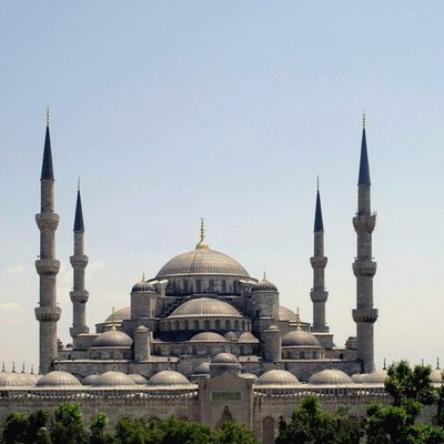 The Sultan Ahmed Mosque in Istanbul( The Blue Mosque ), Turkey.