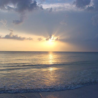 This photograph is of a sunset on North Beach at Fort De Soto Park, which is located south of St. Petersburg, FL. North Beach is frequently named as one of America's best beaches.