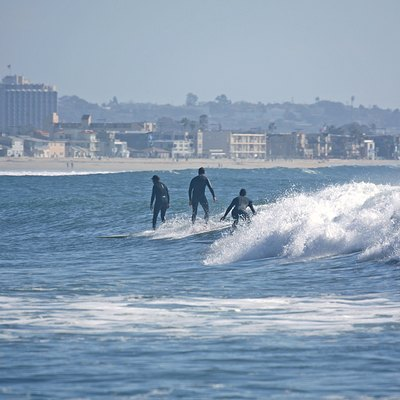 Surfers at Pacific Beach, San Diego, California