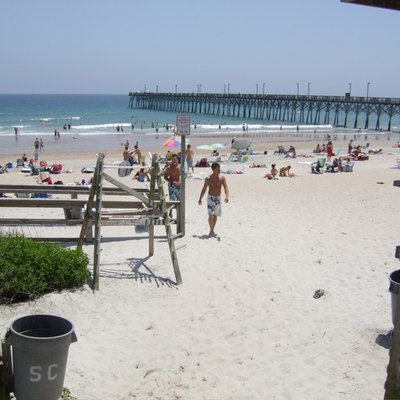The beach at Surf City, North Carolina.