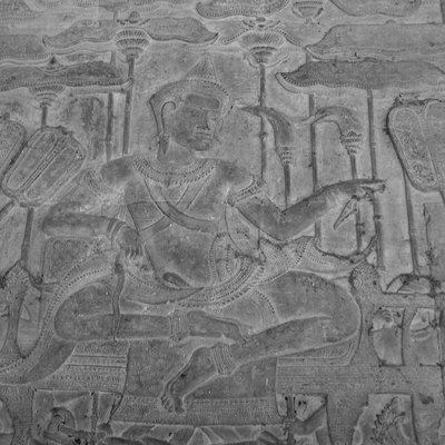 Suryavarman II in procession, Angkor Wat