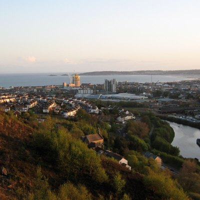 Swansea city centre and Swansea Bay from Kilvey Hill
